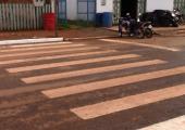 Departamento investe em faixas e outras melhorias no trânsito em Juína