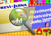 Movimento financeiro da PREVI-JUINA mês de JUNHO-2017