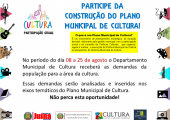 Prefeitura de Juína abre consulta pública para construção do Plano Municipal de Cultura - Saiba como participar.