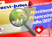 Movimento financeiro da PREVI-JUINA mês de JULHO-2017