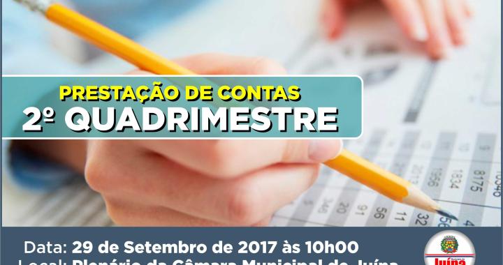 AUDIÊNCIA PÚBLICA DE PRESTAÇÃO DE CONTAS DO 2º QUADRIMESTRE 2017
