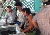 FESTA DO PEIXE: SEMA VISITA FONTANILLAS E CONFERE PROCEDÊNCIA CORRETA DOS PEIXES