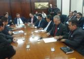 Prefeito Altir Peruzzo se reúne com Ministro da Agricultura Blairo Maggi para buscar recursos para o município de Juína.