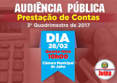 AUDIÊNCIA PÚBLICA PARA PRESTAÇÃO DE CONTAS 3º QUADRIMESTRE DE 2017