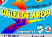 Primeira etapa do 2º Circuito Municipal de Vôlei acontecerá neste fim de semana