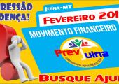 MOVIMENTO FINANCEIRO PREVI-JUINA COMPETÊNCIA FEVEREIRO/2018