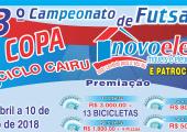 Abertura da Copa Novo Eletro e Patrocinadores  acontecerá nesta sexta no Ginásio Municipal