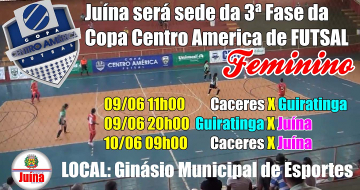 Juína será sede de mais uma rodada da terceira fase da Copa Centro América