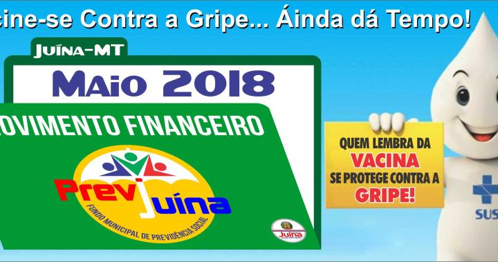 MOVIMENTO FINANCEIRO PREVI-JUINA COMPETÊNCIA MAIO/2018