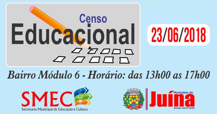 Secretaria de Educação inicia Censo Educacional dia 23 de Junho no Módulo 06
