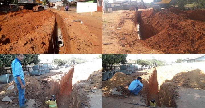 Iniciada as obras de drenagem e pavimentação asfáltica na Avenida Missionário Gunnar Vingren