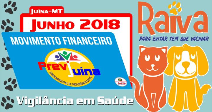MOVIMENTO FINANCEIRO PREVI-JUINA COMPETÊNCIA JUNHO/2018