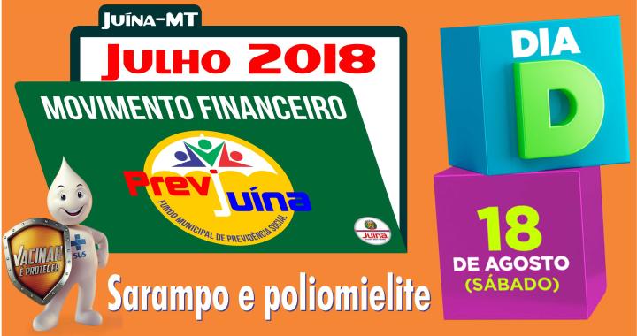 MOVIMENTO FINANCEIRO PREVI-JUINA COMPETÊNCIA JULHO/2018