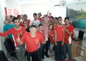 Prefeito Altir recebe em seu gabinete os alunos e professores da escola Pestalozzi  Renascer de Juína
