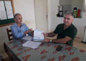 Prefeito Altir Peruzzo assina ordem de serviço para início de obra de ampliação da estação de tratamento do Daes