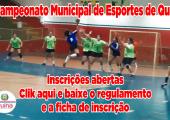 Estão abertas as inscrições para o 14º Campeonato de Esportes de Quadra