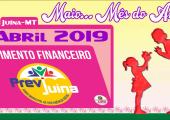 MOVIMENTO FINANCEIRO PREVI-JUINA COMPETÊNCIA ABRIL/2019