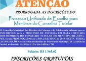 INSCRIÇÃO PARA CONSELHEIRO TUTELAR  FOI PRORROGADA ATÉ 24 DE MAIO