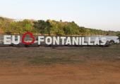 FONTANILLAS RECEBE LETREIRO ESPECIAL PARA FESTA DO PEIXE