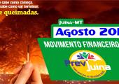 MOVIMENTO FINANCEIRO PREVI-JUINA COMPETÊNCIA AGOSTO/2019