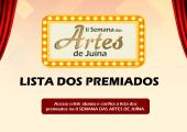 CONFIRA A LISTA DOS PREMIADOS NA II SEMANA DAS ARTES DE JUÍNA