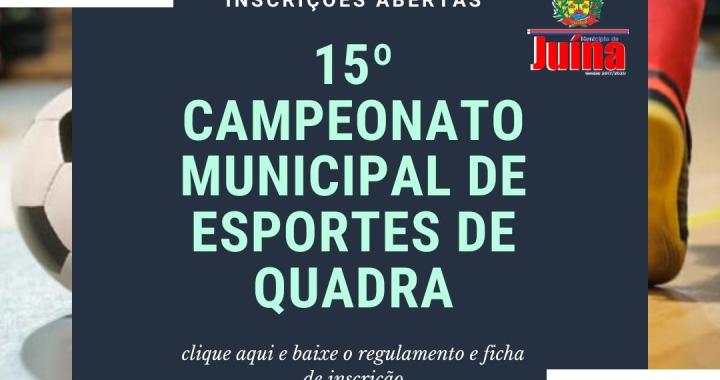 SMELT DISPONIBILIZA FICHA DE INSCRIÇÃO E REGULAMENTO PARA O  CAMPEONATO DE ESPORTES DE QUADRA
