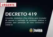 URGENTE - NOVO DECRETO REGULAMENTA ATIVIDADES PÚBLICAS E PRIVADAS EM JUÍNA