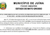 SECRETARIA DE EDUCAÇÃO ALTERA DATA DE PROCESSO SELETIVO SIMPLIFICADO - PSS Nº 001/2021