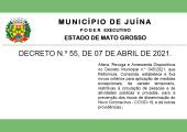 DECRETO FIXA NOVOS CRITÉRIOS PARA PREVENÇÃO DOS RISCOS DA COVID-19