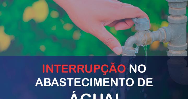 COMUNICADO IMPORTANTE - FORNECIMENTO DE ÁGUA - DAES