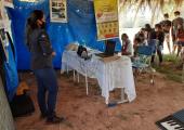 DEPARTAMENTO DE TRÂNSITO DE JUÍNA REALIZA ATIVIDADE SOBRE EDUCAÇÃO NO TRÂNSITO EM COMUNIDADE INDÍGENA