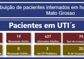 INFORME: TAXA DE OCUPAÇÃO DE LEITOS ADULTOS EM MATO GROSSO - 06-08-21