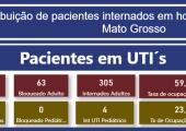 INFORME: TAXA DE OCUPAÇÃO DE LEITOS ADULTOS EM MATO GROSSO - 19-08-21