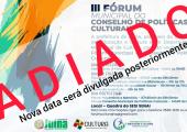 Cancelado: III Fórum Municipal de Cultura