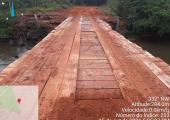 Secretaria de Infraestrutura em Juína recupera ponte sobre Rio Juinão